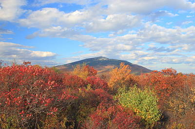 Mount Monadnock From Gap Mountain In Autumn Print by John Burk