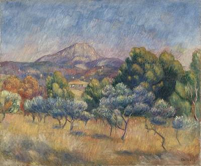 Mount Of Sainte-victoire, C.1888-89 Print by Pierre Auguste Renoir