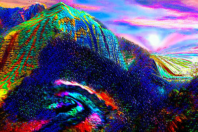 Mount Of Visionaries V.14 Enhanced Print by Rebecca Phillips