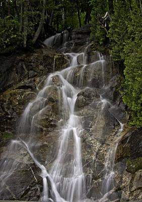 Water Painting - Mount Pisgah Cake Icing Waterfalls by John Haldane