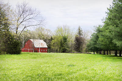 Red Photograph - Mount Pleasant Red Barn by Cricket Hackmann