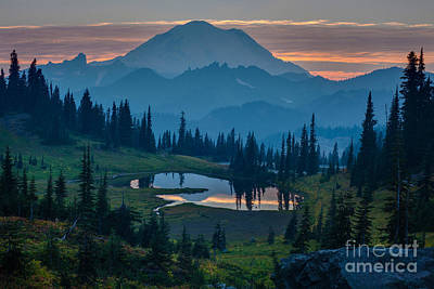 Washington Nationals Photograph - Mount Rainier Layers by Mike Reid