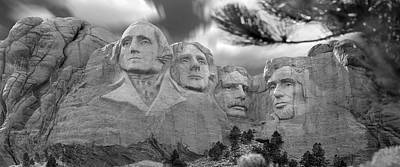 Mount Rushmore Digital Art - Mount Rushmore Panoramic by Mike McGlothlen