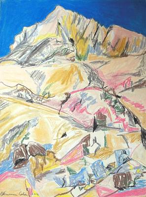 Religious Artist Drawing - Mount Sinai by Esther Newman-Cohen