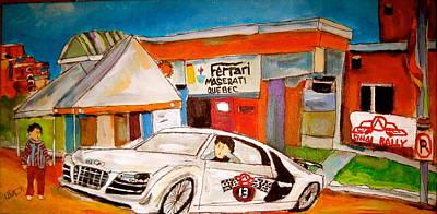 Painting - Mount Sinai Rally Audi by Michael Litvack