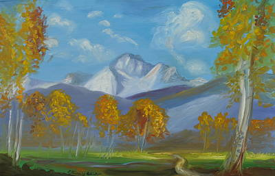 Mount Sneffels San Juan Mountains Colorado Original by Patricia Kimsey Bollinger