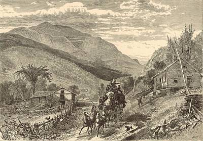Mount Washington From The Conway Road Print by Antique Engravings