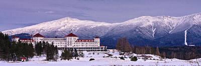 Winter Scenes Photograph - Mount Washington Hotel Winter Pano by Jeff Sinon