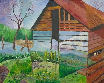 Mountain Barn Print by William Killen