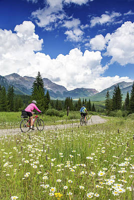 Bicycle Photograph - Mountain Biking Along The Great Divide by Chuck Haney