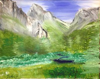 Mountain Day Print by Suzanne Surber