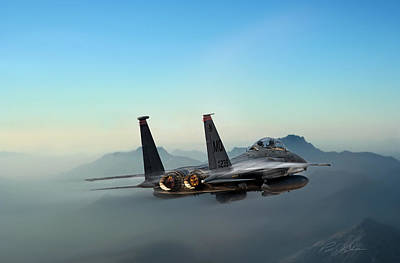 F-15 Digital Art - Mountain Eagle by Peter Chilelli