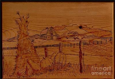 Mountain Farm Print by Diana Hoesly