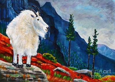 National Parks Painting - Mountain Goat Country by Harriet Peck Taylor