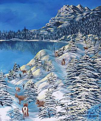 Ski Painting - Mountain Goats Of Grand Forks by Barbara St Jean