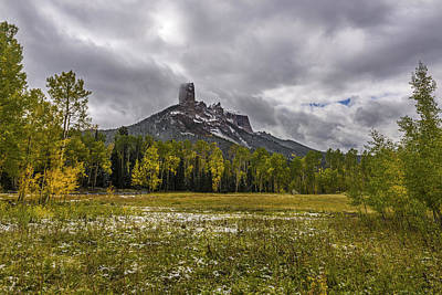 Mountain In The Meadow Print by Jon Glaser