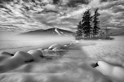 Maine Mountains Photograph - Mountain In The Mist by Darylann Leonard Photography
