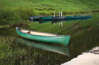Gore Range Photograph - Mountain Lake Canoe by Aaron Spong