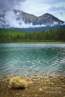 Alberta Photograph - Mountain Lake by Elena Elisseeva