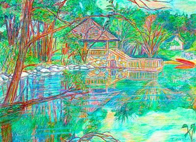 Mountain Lake Reflections Print by Kendall Kessler