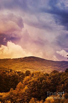 Country Scenes Pyrography - Mountain Landscape by Jelena Jovanovic
