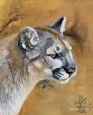 Mountain Lion Print by J W Baker
