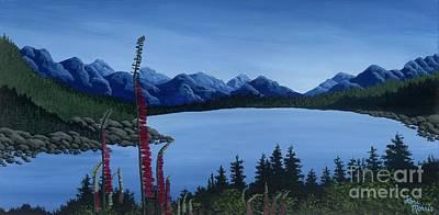 British Columbia Painting - Mountain Lupins by Lori  Morris