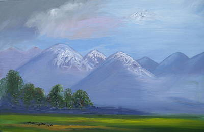 Palo Cedro Painting - Mountain Majesty Of God by Patricia Kimsey Bollinger