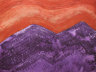 Mountain Majesty Original Painting Print by Sol Luckman
