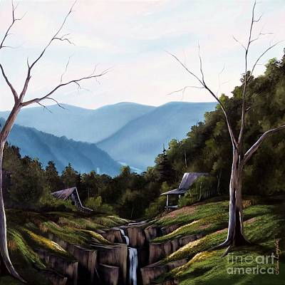 Tennessee Painting - Mountain Memories by Steven Lebron Langston