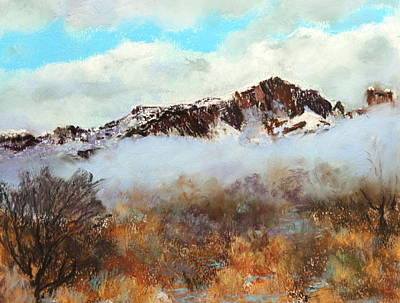 Mountain Mist Print by M Diane Bonaparte
