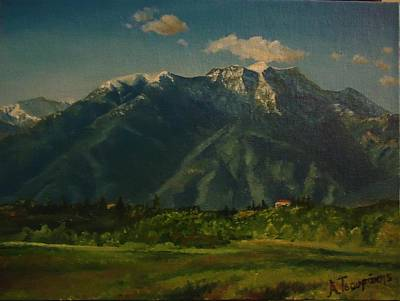 Greece Painting - Mountain Olympus From North  by Alexandros Tsourakis