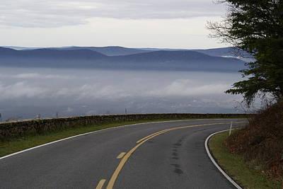 Smokey Mountain Drive Pyrography - Mountain Pass by Brooks Byrd
