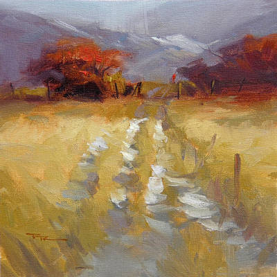 Mountain Path Print by Richard Robinson