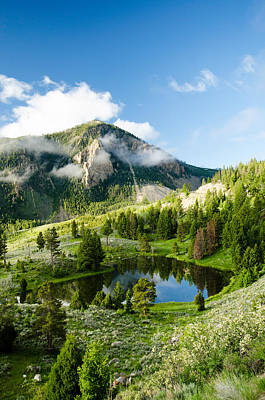 Landscapes Photograph - Mountain Reflection by Crystal Wightman