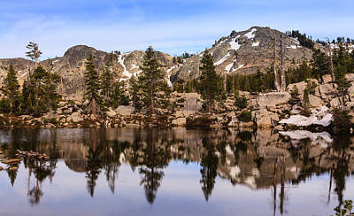 Mountain Reflections Print by Karma Boyer