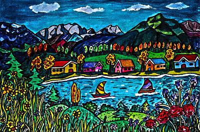 Mountain Sail Print by Monica Engeler
