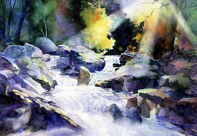 Water Filter Painting - Mountain Stream by Tom Poole