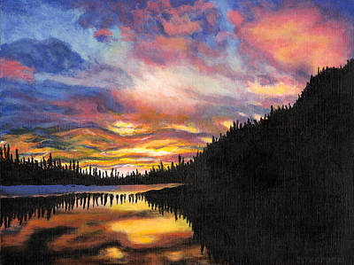 Mountain Sunrise Print by Jennifer Frampton