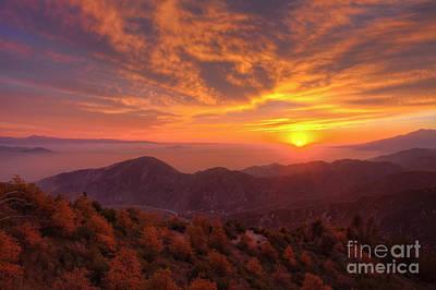 Mountain Sunset Print by Eddie Yerkish