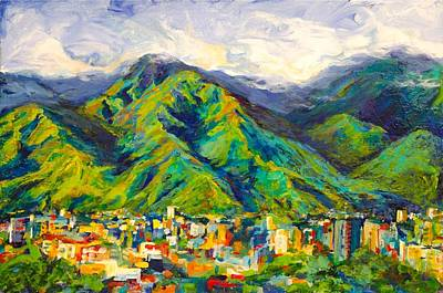 Mountain Valley Painting - Mountain Valley by Pati Maguire