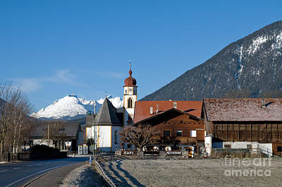 Church Photograph - Mountain Village In The Alps by Michal Bednarek