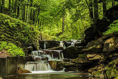 Environment Photograph - Mountain Waterfall by Jaroslaw Grudzinski