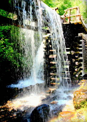 Grist Mill Photograph - Mountain Waters by Karen Wiles
