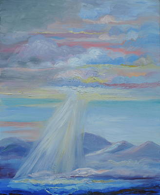 Palo Cedro Painting - Mountains Above The Sea by Patricia Kimsey Bollinger