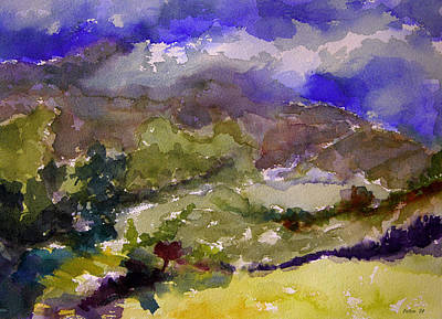 Painting - Mountains And Valleys by Julianne Felton