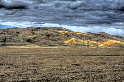Hdr Photograph - Mountains Near Westley Ca 2 by SC Heffner