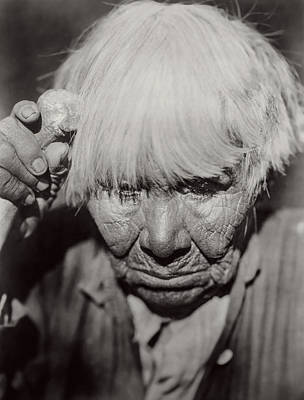 Worried Photograph - Mourning Circa 1924 by Aged Pixel