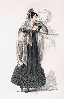 Mourning Dress, Fashion Plate Print by English School