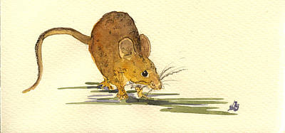 Mouse Painting - Mouse by Juan  Bosco